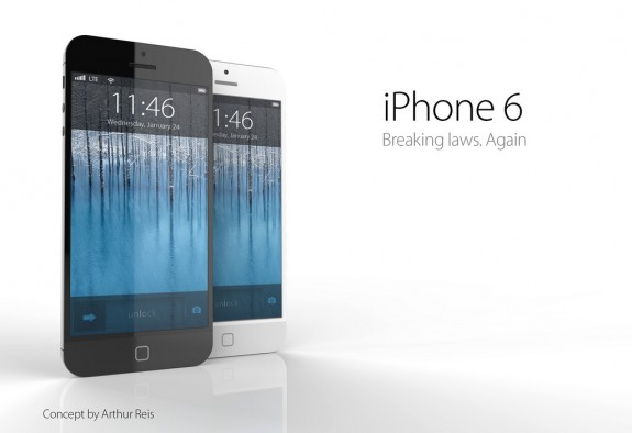 One iPhone 6 concept from Arthur Reis, showing a waterproof iPhone 6 with no home button and a stronger finish.
