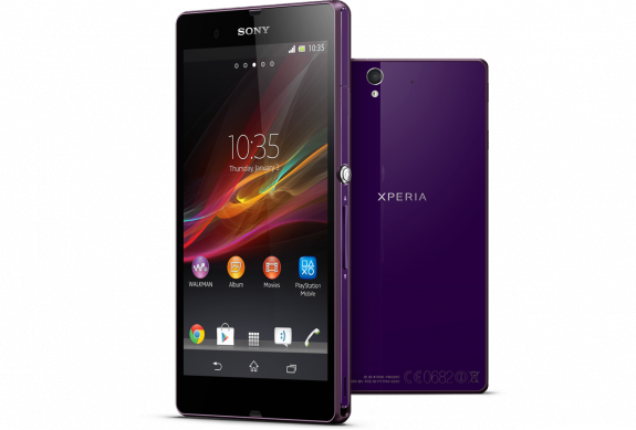 The Xperia Z is available in several different colors, unlike the Nexus 4.