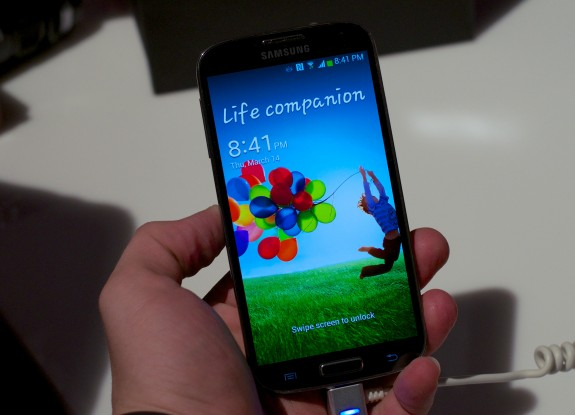 The Samsung Galaxy S4 display offers 1080p resolution.
