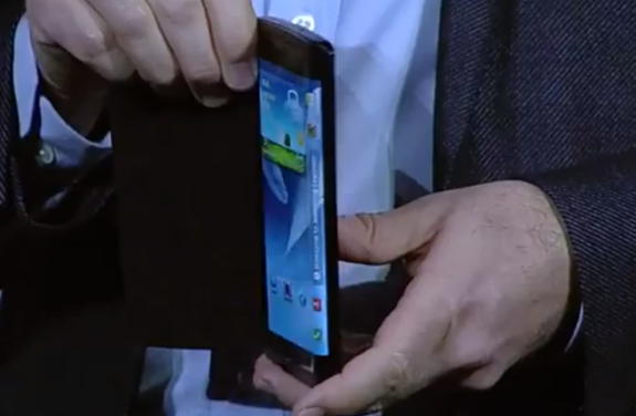 This Samsung Youm flexible display prototype points to the next battle in screens between Samsung and Apple.