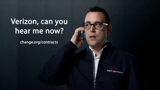A petition asks Verizon to end contracts.