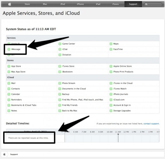 apple service status page