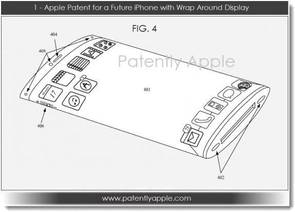 iPhone 6 Concept: Wrap-around Apple iPhone Patent