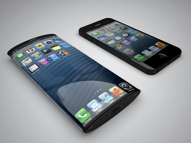 This iPhone 6 concept based on an Apple patent shows one example of how a flexible display could work in the iPhone. Concept by MyVoucherCodes.