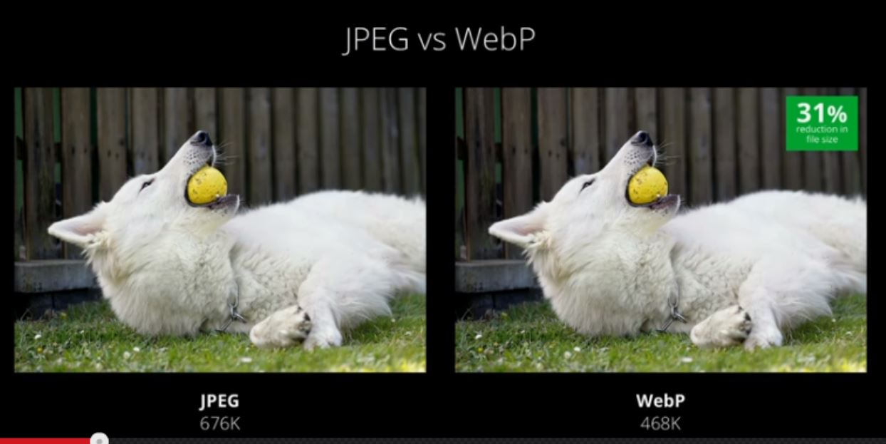 google webp comparison