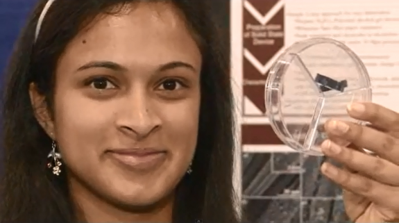 Esha Khare with her super capacitor.