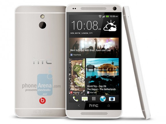 This is said to be the HTC One Mini or, the HTC M4.