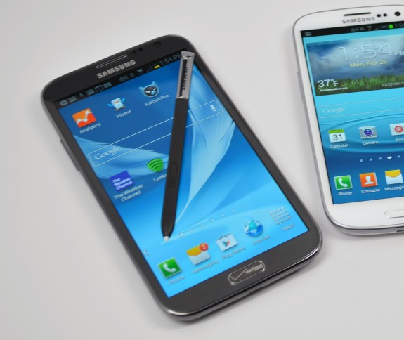 The Samsung Galaxy Note 3 display is said to be 5.7-inches.