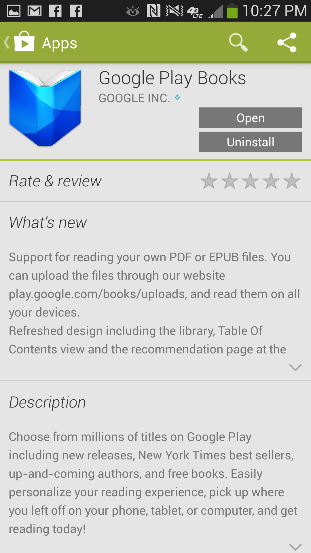 google play books updated to allow synchronizable user