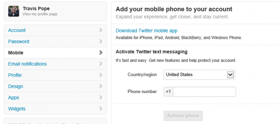 Twitter Two-Step Authentication Three