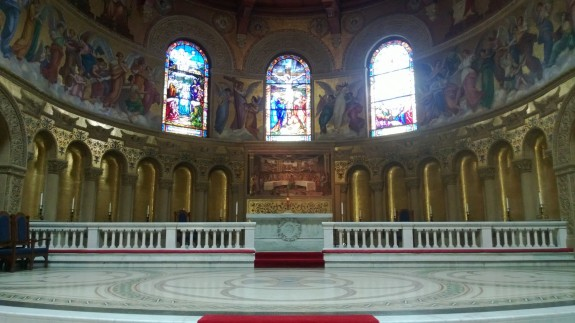 Stanford Memorial Church; the Lumia 928 does a good job given the dark lighting in the church.