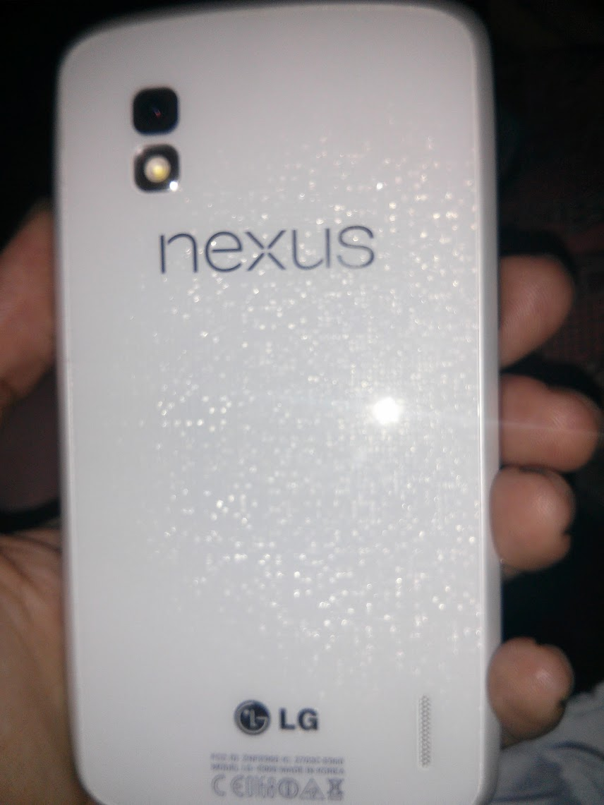 Is this the white Nexus 4? And is it heading to a Google I/O 2013 debut?