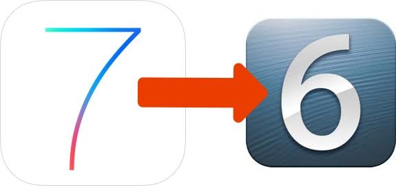 Downgrade from iOS 7 beta to iOS 6.