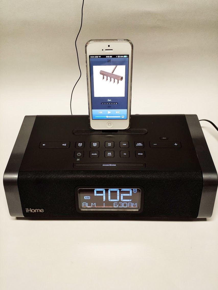 ihome idl45 clock radio with lightning dock for ipad and iphone. Black Bedroom Furniture Sets. Home Design Ideas