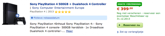One retailer points out that this is a fictional PS4 release date.