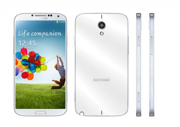 A Samsung Galaxy Note 3 concept with a metal design.