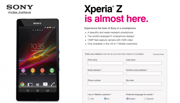 The T-Mobile Xperia Z is a phone worth considering.