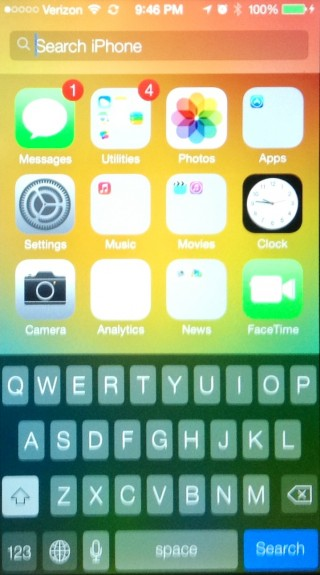Pull down to access Spotlight from any iOS home screen.
