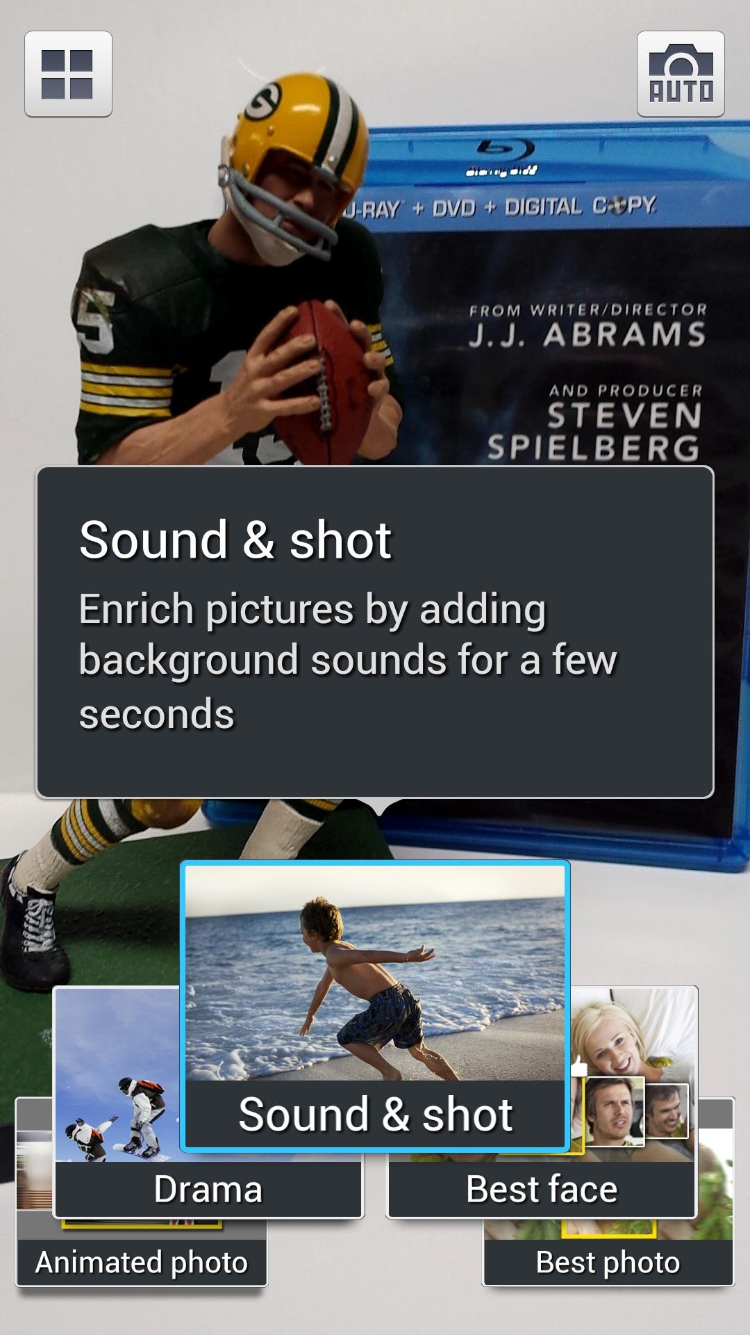 Samsung Galaxy S4 Sound Shot Mode