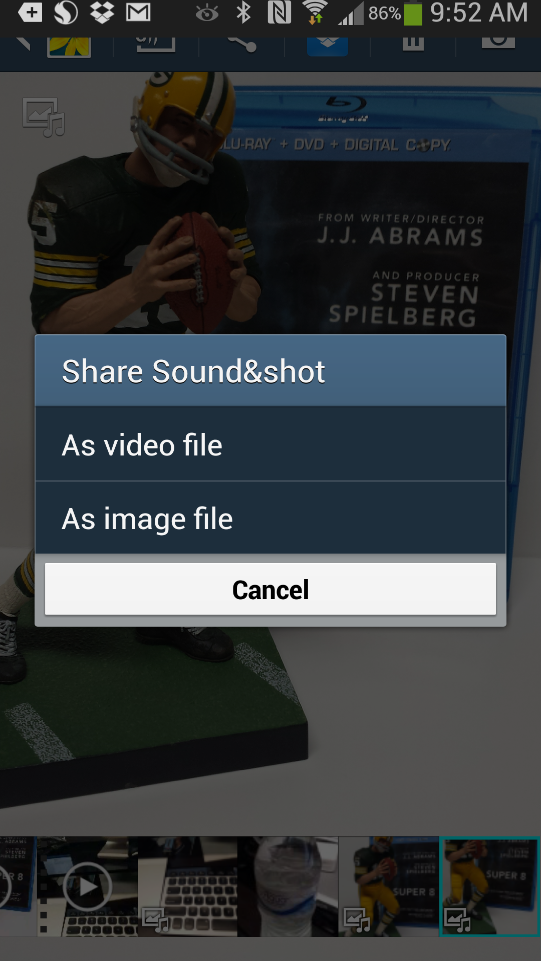How to share a Samsung Galaxy S4 Sound Shot as a video