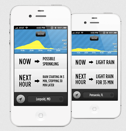 Dark Sky is an amazing iPhone weather app.