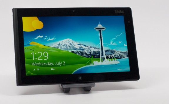 The ThinkPad Tablet 2 display is great, and bright enough to use outdoors in a pinch.