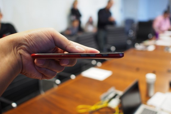 The Motorola Droid Ultra from the side.
