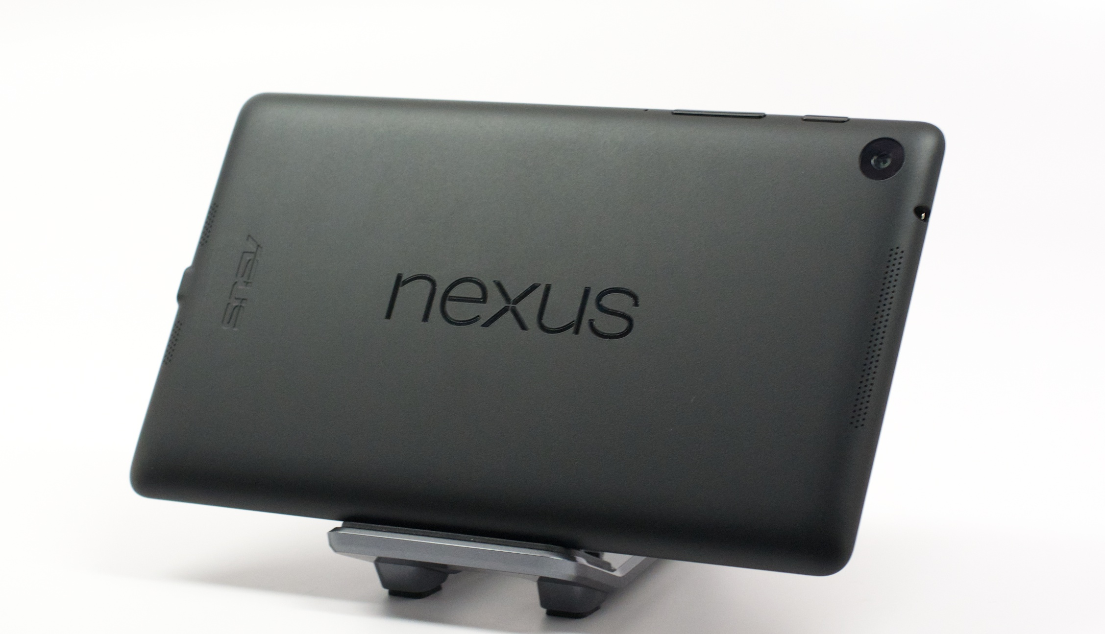 The new Nexus 7 design is matte black, slimmer and soft to the touch.