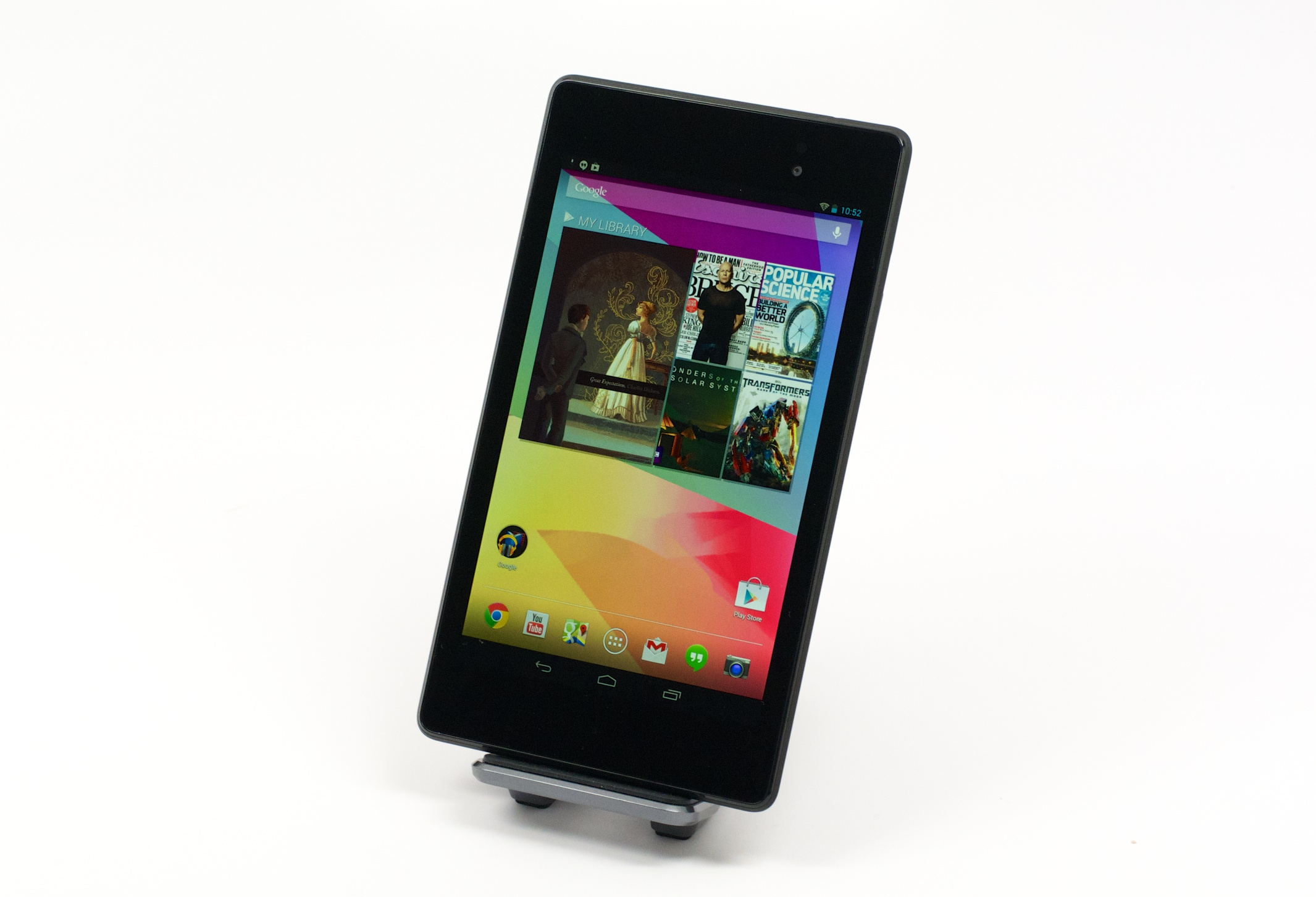 The new Nexus 7 features a high-resolution display.