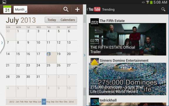Simultaneous multitasking through Multi Window view.