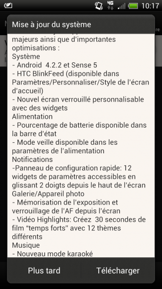SFR is apparently planning on rolling out Android 4.2 and Sense 5 to the HTC One XL in August.