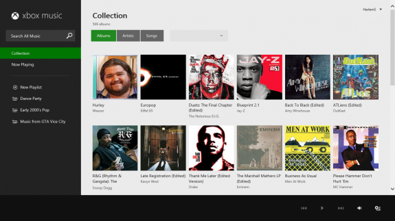 Xbox Music on the Web