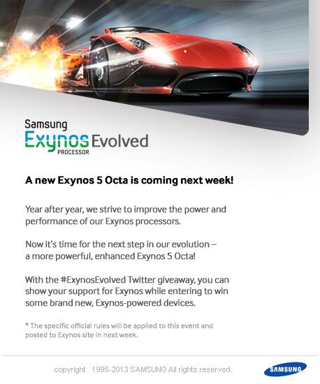 Samsung is poised to announce a new Exynos 5 Octa processor.