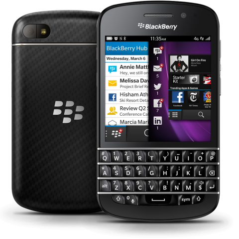 BlackBerry Q10 design, presumably what the Porsche Design will be based off of.