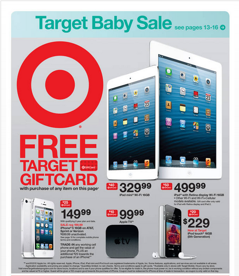 target iphone promotion target offers big 4 and iphone 5 gift card deals 7490