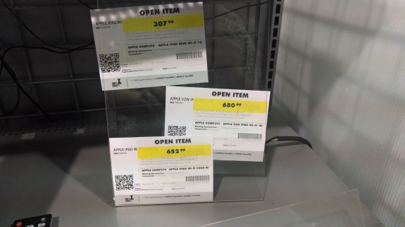 Best Buy hid these iPad deals under a shelf holding an old monitor.