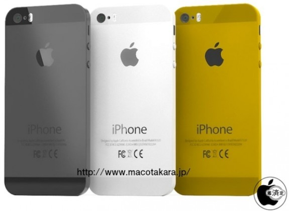 Mockup of what a gold iPhone 5s could look like.