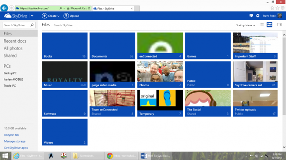 How To Sync Documents to Windows Phone Using SkyDrive 1