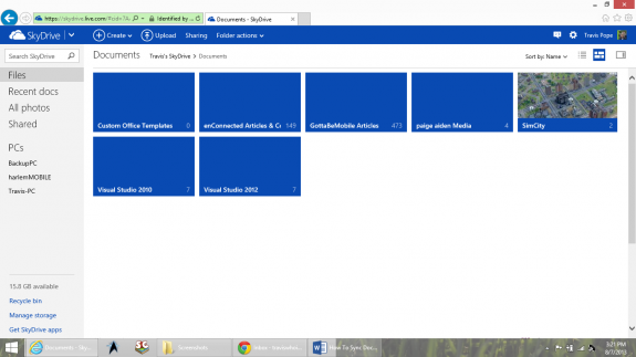 How To Sync Documents to Windows Phone Using SkyDrive 3