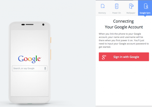 Link your Google account for a phone that is already synced.
