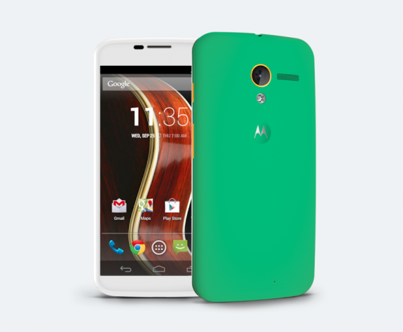 Create a custom smartphone with the Moto Maker.