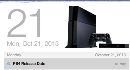 The PS4 release date is allegedly set for October 21st.