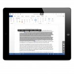Parallels Access on iPad with Windows Word 2013 - triple tap paragraph selection