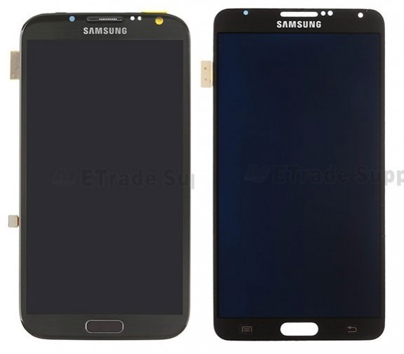Galaxy Note 2 vs. Galaxy Note 3 size and design from replacement parts at ETrade Supply.