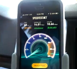 iPhone 5 SpeedTest AT&T