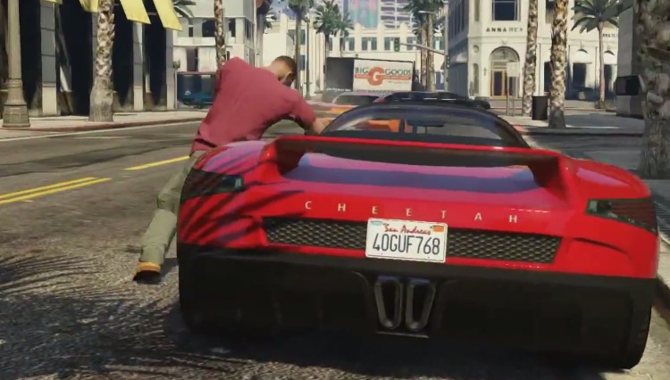 See a beautiful car in GTA Online and take it, but watch out for someone eyeing you too.