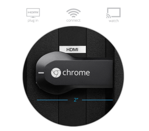 Google Chromecast dongle streams what's on your phone to your HDTV