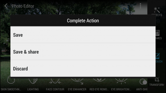 how to remove objects from phootos on the htc one 8