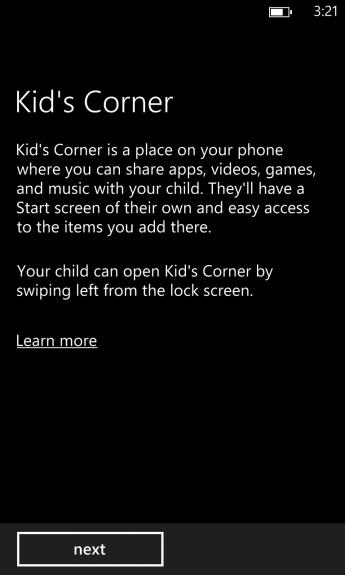 how to turn on kids corner on windows phone 8 (3)