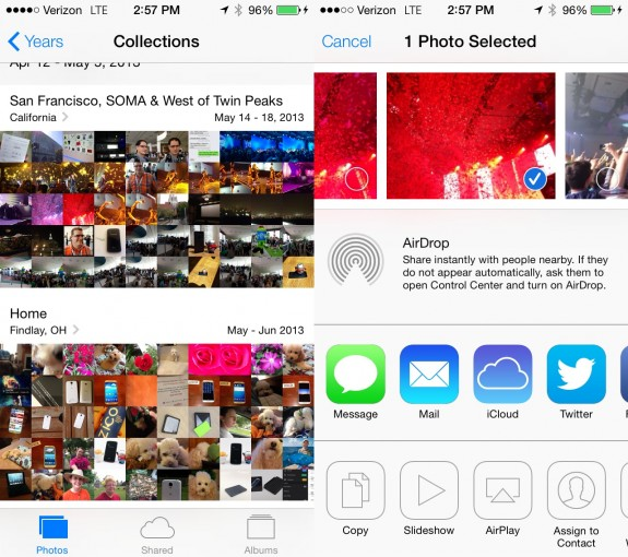 The new iOS 7 Photos app is a welcome redesign.